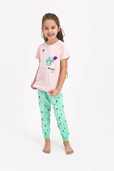 ROLY POLY Kız Çocuk Pembe Kısa Kol Uzun Pantolon Pijama Takımı