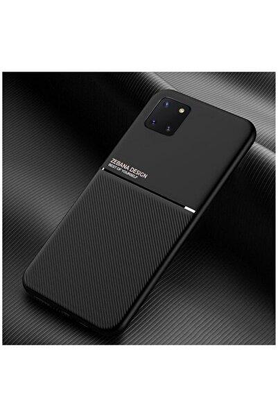 Dara Aksesuar Samsung Galaxy Note 10 Lite Kılıf Zebana Design Silikon Kılıf Siyah