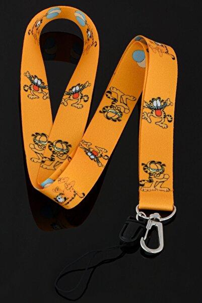 Apptakı Kedi Garfield Yaka Kartı Boyun Ipi Telefon Askısı - Ask0017
