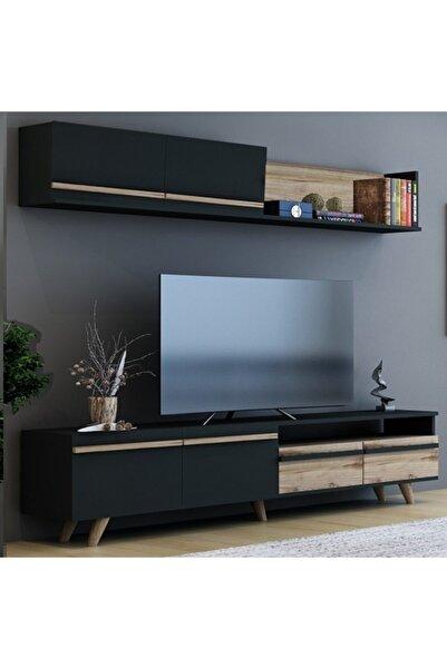 BMdekor Mono Antrasit Çırağan Tv Ünitesi 180 cm