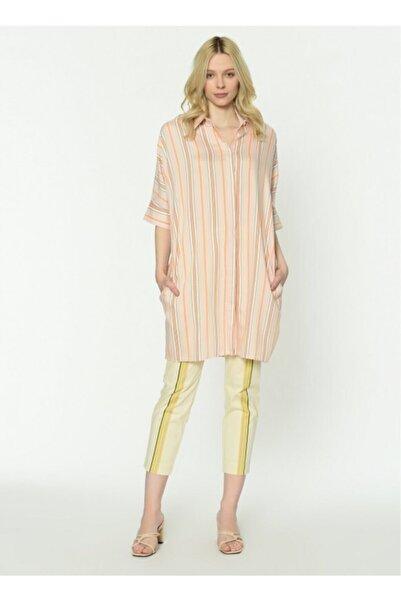 İpekyol Kadın Turuncu  Double Kol Oversize Tunik