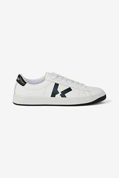 Kenzo Erkek Beyaz K Logolu Sneaker Ayakkabı