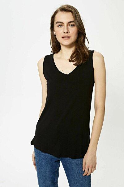 LC Waikiki Kadın Yeni Siyah T-Shirt