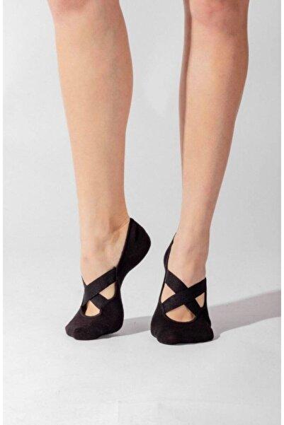Dore Kadın Siyah Yoga & Plates Çorabı 2'li Paket