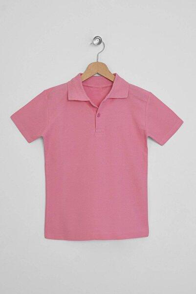 zepkids Erkek Çocuk Pembe Polo Yaka Tshirt 5-12 Yaş