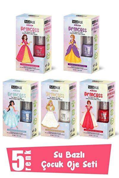 Mara Princess Yıkanabilir Su Bazlı Çocuk Oje Seti 5 Renk