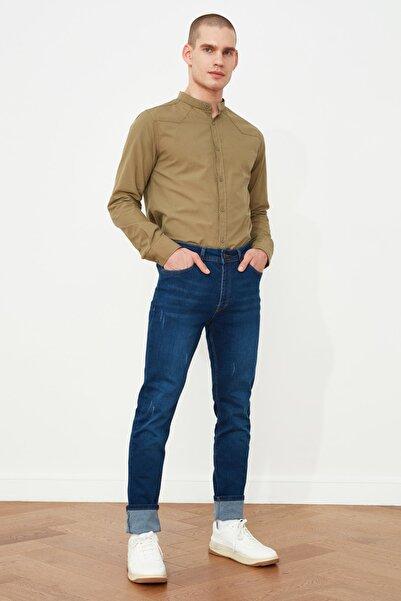 TRENDYOL MAN Indigo Erkek Skinny Fit Jeans TMNSS21JE0217