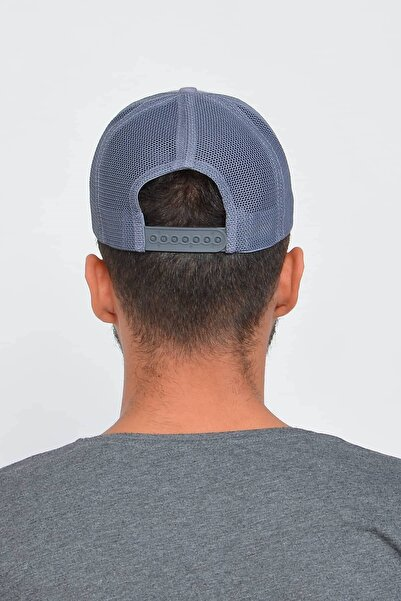 Mossta Erkek Gri New York Ny Nakışlı Şapka