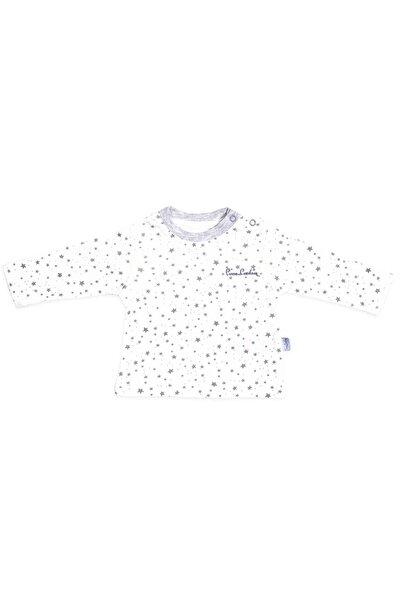 Pierre Cardin Kız Bebek Gri Yıldızlı Uzunkol Sweatshirt 160411 Pc