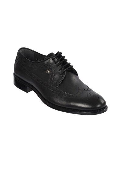 Fosco Erkek Siyah Hakiki Deri Klasik Ayakkabı 7100