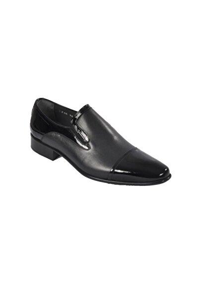 Fosco Erkek Rugan Siyah Hakiki Deri Klasik Ayakkabı 3015-3