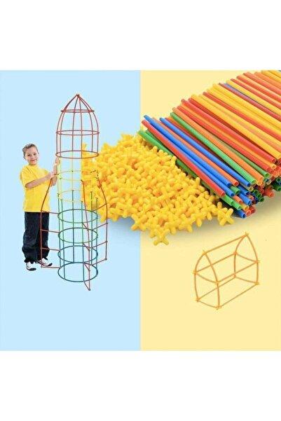 Ankatic Bambu Çubukları Zeka Hayal Ve Gücü Eğitici 4d Dıy Block 300 Parça