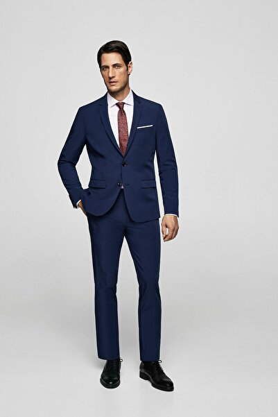 MANGO Man Erkek Lacivert Pantolon 23060330