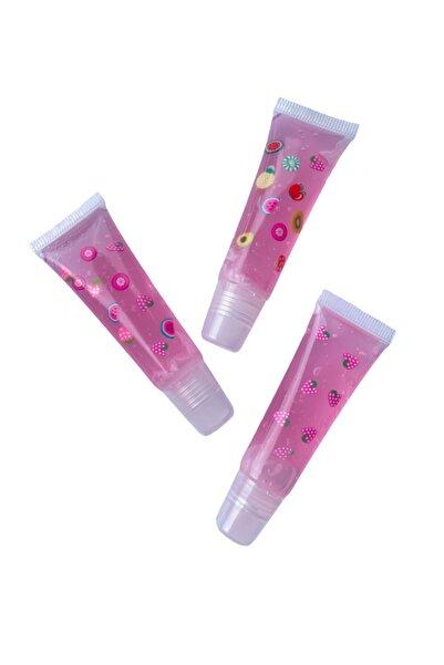 buenas store Lip Gloss Set Bubble, Vanilya & Çilek Aromalı Lip Gloss