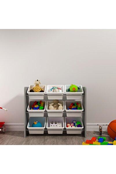 MORDEKA 9 Sepetli Montessori Oyuncak Dolabı