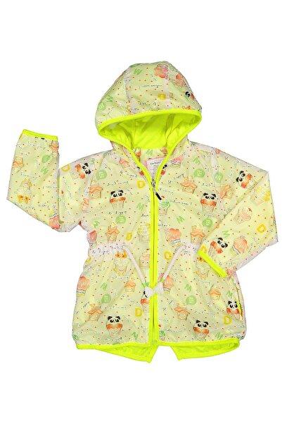 Midimod Kız Bebek Yağmurluk Mont Trençkot 6-24 Ay Yeşil M19106
