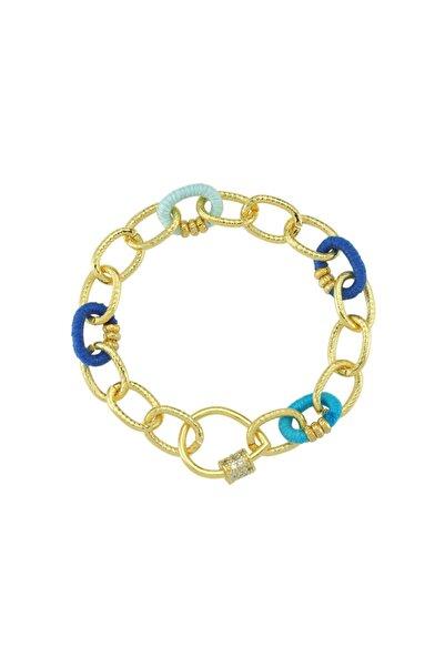 Luzdemia Blue Link Locker Bracelet