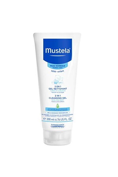 Mustela 2 In 1 Hair And Body Cleansing Gel 200 Ml-Saç Ve Vücut Şampuanı