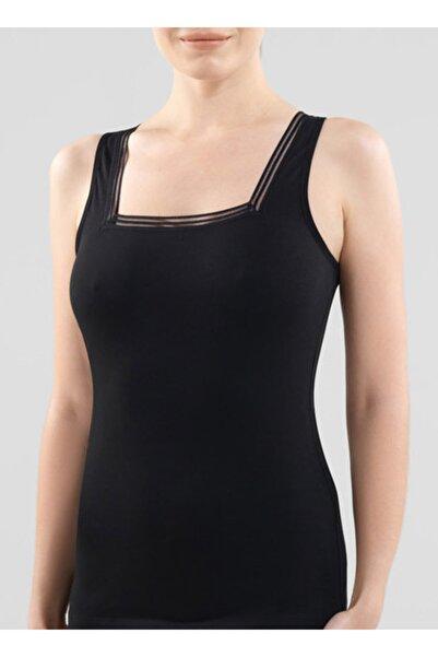 Blackspade Kadın Dantelli Atlet Essential 1968 - Siyah