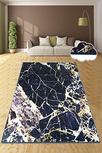 Chilai Home NATURAL STONE BLACK Djt Dekoratif Özel Tasarım Modern Yıkanabilir Kaymaz Taban Halı
