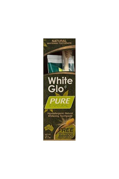White Glo Whıte Glo Bitkisel Doğal Beyazlatıcı L Diş Macunu 85ml+fırça Hediyeli