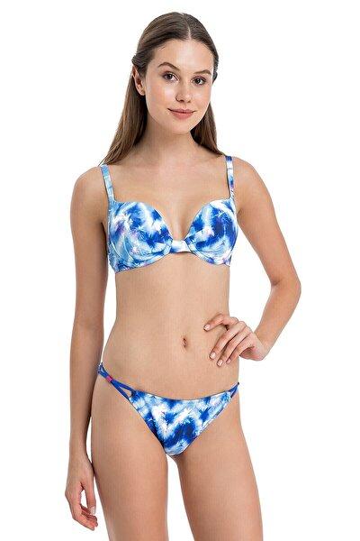 Dagi Kadın Saks Push-Up Kaplı Bikini Takım B0118Y0426