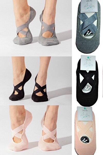 OmSiva Yoga Çorabı Seti 39-41 ( Gri Siyah Pudra)