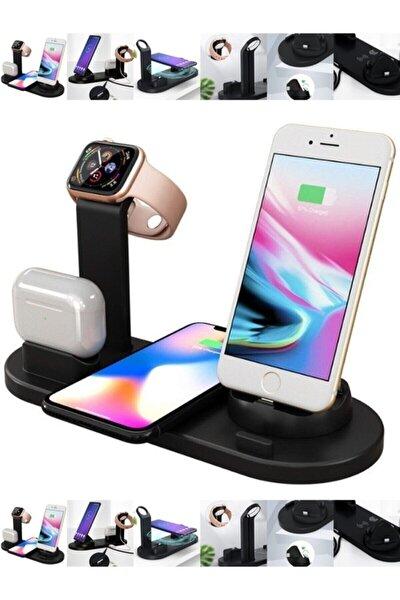 Teknozon 4in1 Wireless Kablosuz Şarj Iphone+usb C+micro Usb Şarj Standı - Watch-pods-phone