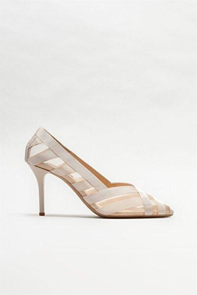 Elle Shoes Kadın Bej Stiletto Ayakkabı