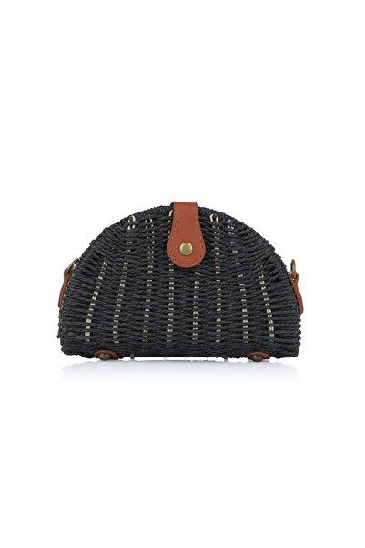 Oblavion Kadın Siyah Hasır Çanta 1008
