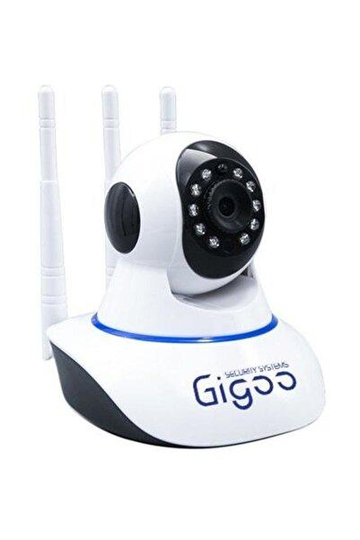 Gomax Gigoo Hd 360° 3 Antenli Hareket Sensörlü Ip Bebek Ve Güvenlik Kamerası