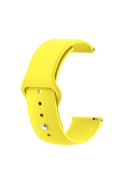 Microsonic Sarı Samsung Gear S3 Uyumlu Frontier Silicone Sport Band Kordon