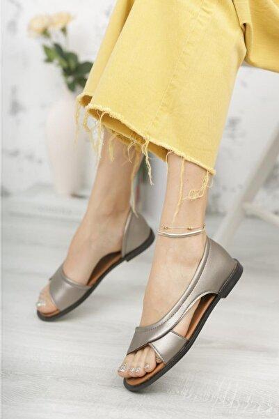 Moda Frato Pwr Açık Kadın Sandalet Yazlık Ayakkabı Babet