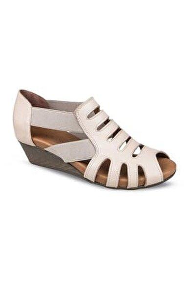 06 Hakiki Deri Anatomik Taban Kadın Sandalet