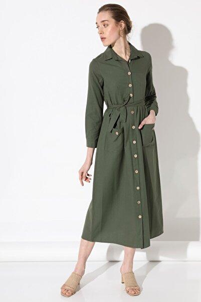 Arma Life Önü Düğmeli Elbise