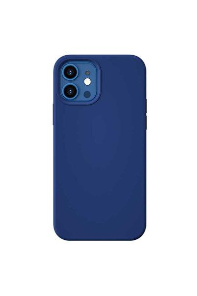 Benks Appleiphone12mini Kılıf Magsafe Magnetic Kadife Iç Yüzey Pürüzsüz Dış Tasarım Silikon Lacivert