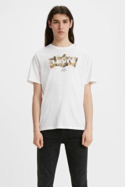 Erkek Beyaz Kısa Kollu T-shirt 22489-0277