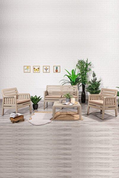 SANDALİE Lara 2 1 1 S Balkon&teras Bahçe Mobilyası / Cappucino