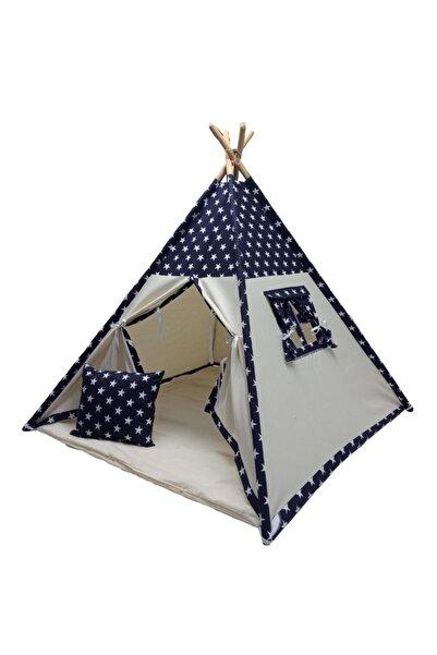 ConconBebe Oyun Çadırı Devrileyen Toplanmayan Çocuk Oyun Çadırı Kızıldereli Çadırı Oyun Evi Lacivert Yıldızlı