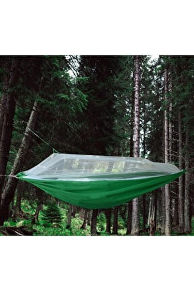Cibinlikli Kamp Hamağı Çantalı - Taşınabilir Sivrisinek Koruyuculu Kamp Hamağı