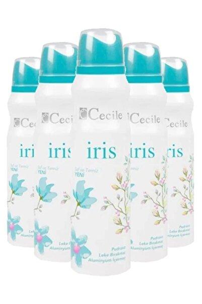 Cecile Iris 150 ml Beyaz Kadın Deodorant 5 Adet