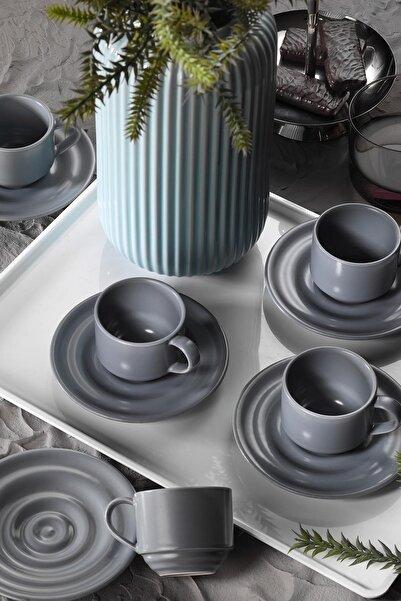 Kütahya Porselen New Tuvana Kahve Takımı Gri