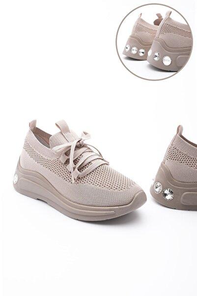 Marjin Kadın Dolgu Topuk Çorap Sneaker