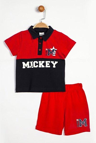 Mickey Mouse Erkek Çocuk kırmızı Polo Yaka Alt-Üst Takım 15445 T20y15445dsn01