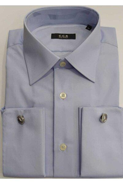 Sarar Erkek Mavi Kol Düğmeli Gömlek