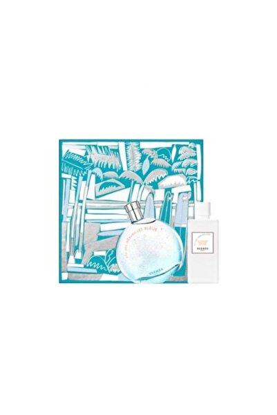 Hermes Eau Des Merveilles Blue Edt 100 ml + Vücut Losyonu 80 ml Kadın Parfüm Set 3346131796601