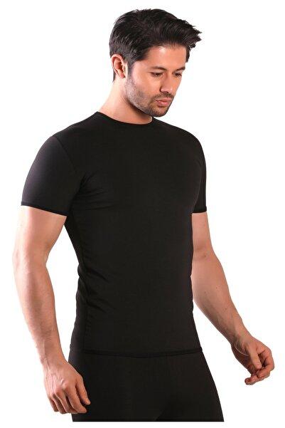 lovebox Erkek Siyah Büyük Beden Yağ Terleten Kısa Kollu T-shirt
