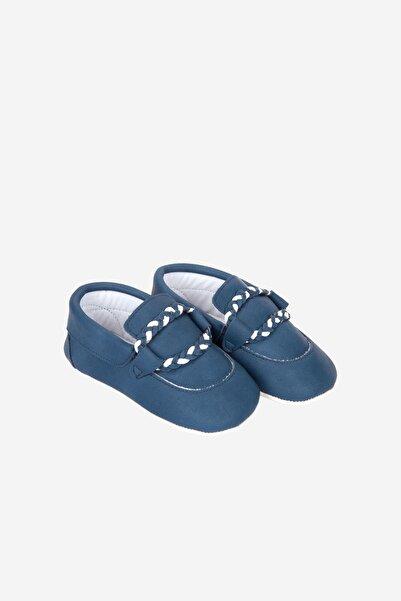 Funny Baby Bebek Lacivert Örgü Bağcıklı Ayakkabı