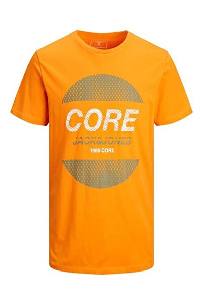 Jack & Jones Unisex Hardal 12191087 Core Yazılı 0 Yaka Tshirt