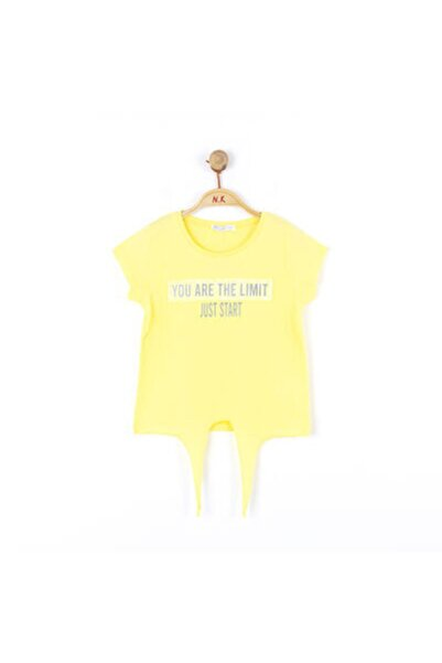 NK Kız Çocuk Sarı Önden Bağlamalı Tshirt